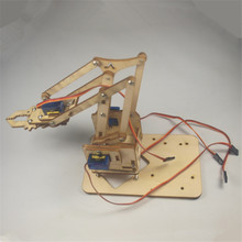 DIY meArm Mini Industrial Robotic Arm Deluxe Kit laser cut wooden plate frame set meArm learner kit(China)