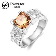 Stainless steel inlaid crystal ring white/rose gold color rings for women Wedding Feast Jewellery Romantic New Products