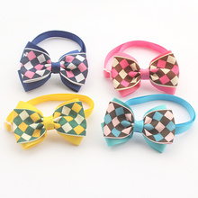 Armi store Handmade  Plaid Ribbon Fashion Dog Tie Dogs Bow Ties 6031028 Pet Accessories Wholesale