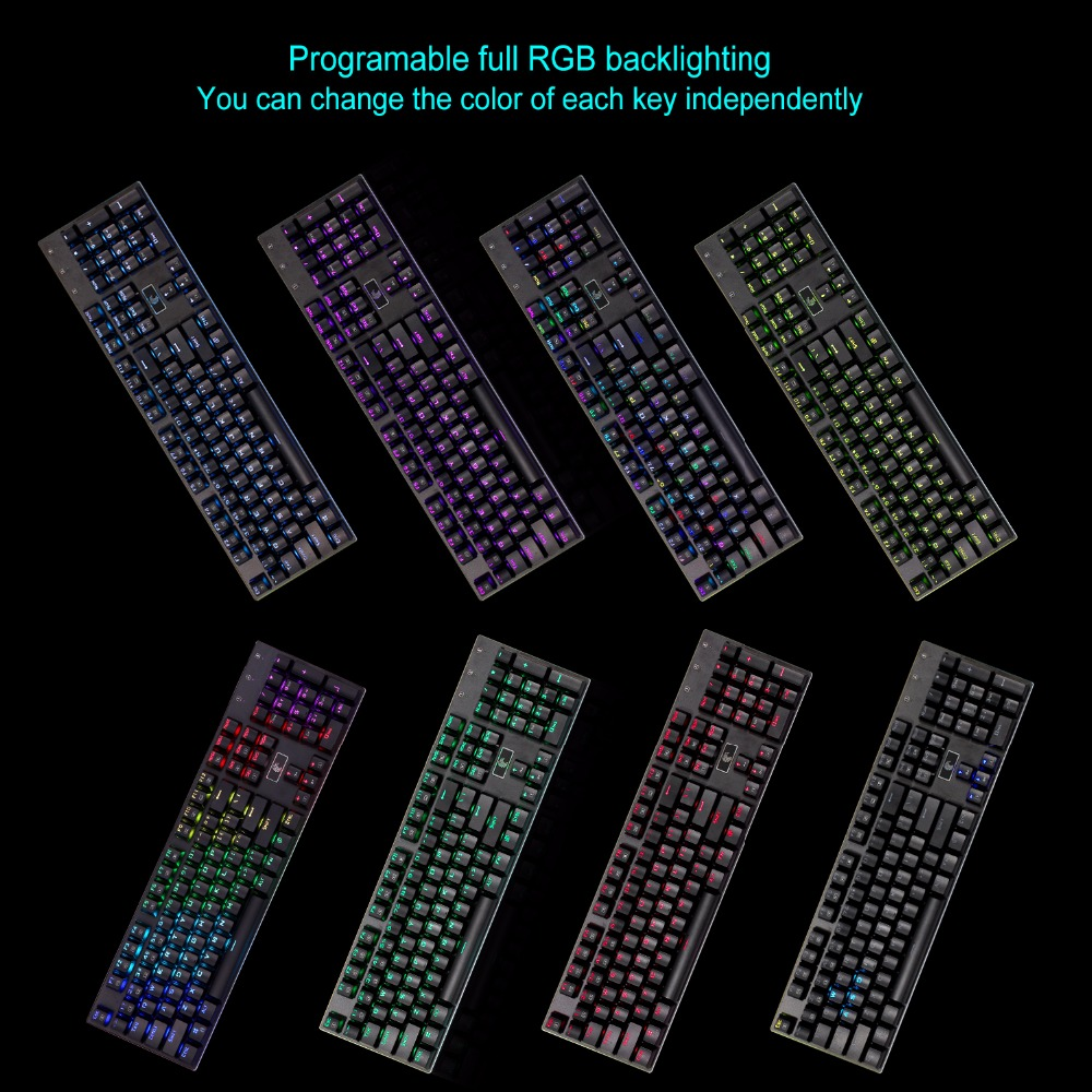 4. rgb mechanical keyboard led 104