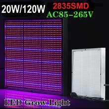 5pcs/lot 20W/120W Led Grow Light Lamps 2835SMD AC85-265V For Flowering Plants And Hydroponic System Drop Shipping Free Shipping