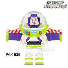 Educational Blocks Buzz Lightyear Marvel Super Heroes Star Wars Set Model Action Bricks Kids DIY Toys Hobbies PG1030 Figures