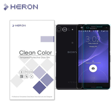 With Retail Package 2 pcs/lot  one Front one Back 0.3mm Tempered Glass for Sony Z3 Compact M55W screenProtector with Clean Tools