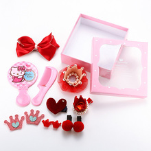 12PCS New Original Design Baby Girls Cute Bow Crown Hair Clip Princess Lovely Headbands Hairpins Kids Barrettes Hair Accessories(China)