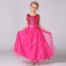 2017 Luxury Children's Christmas Dresses For Girls Wedding Party Baby Girl Kids Prom Gown Dress Teenager Girl Clothing 8 10 12 Y