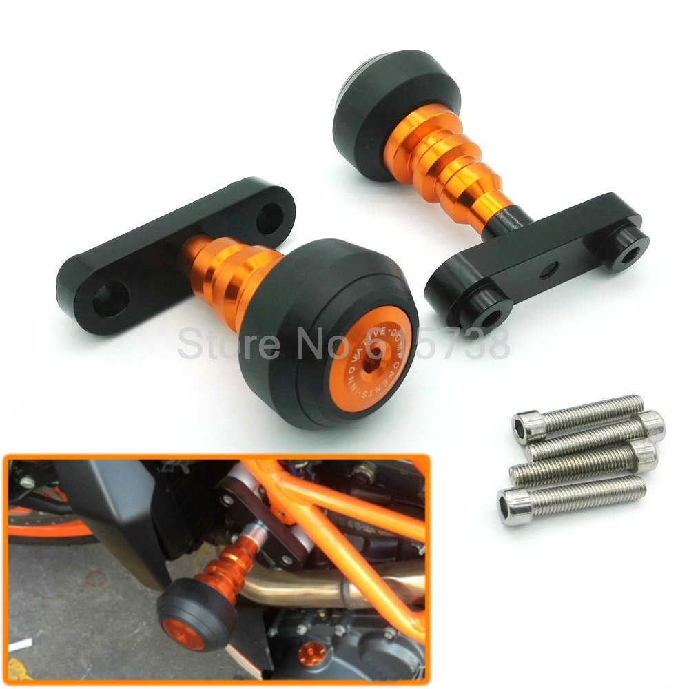 Aluminum Motorbike Left and Right Motorcycle Frame Slider Anti Crash Protector For KTM DUKE 125/200/390<br><br>Aliexpress
