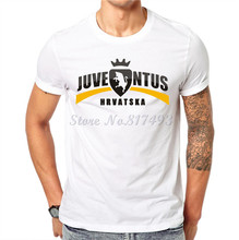 New Juventus Printed Men T shirt Casual Man Cotton Tees White Funny T-shirt Cotton Tops Hipster Clothing JJ03