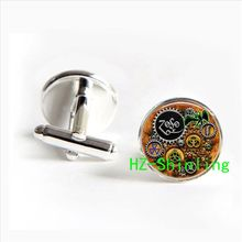 Wholesale  Led Zeppelin Steampunk Inspired cufflinks  jewelry for men glass dome  Cabochon cufflinks 2017
