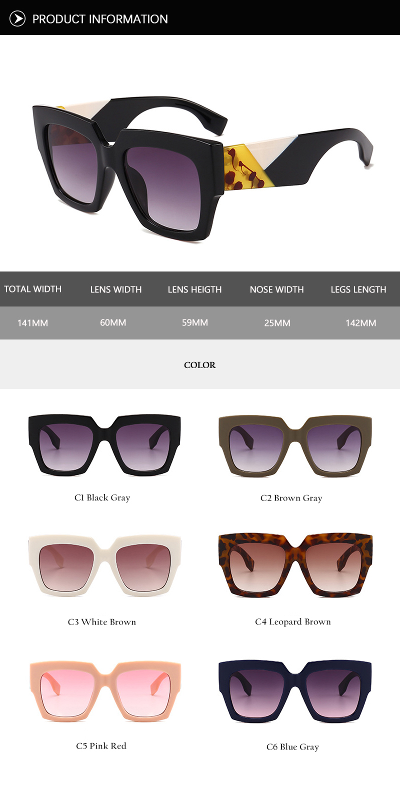 2018 New Oversized Sunglasses (30)