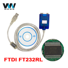 OBD2 Connector RS232 TO USB Serial Adapter FTDI FT232RL Chip OBD Extension cable USB2.0 COM Port Driver For Windows 10, 8, 7