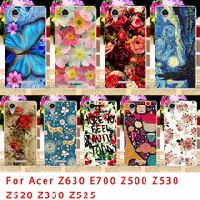 Soft TPU Phone Cases For Acer Liquid Z630 Z 630 Z630S E700 Z500 Z520 Z530 Z525 Z530S Z330 Bag Flowers Rose Back Covers Housing
