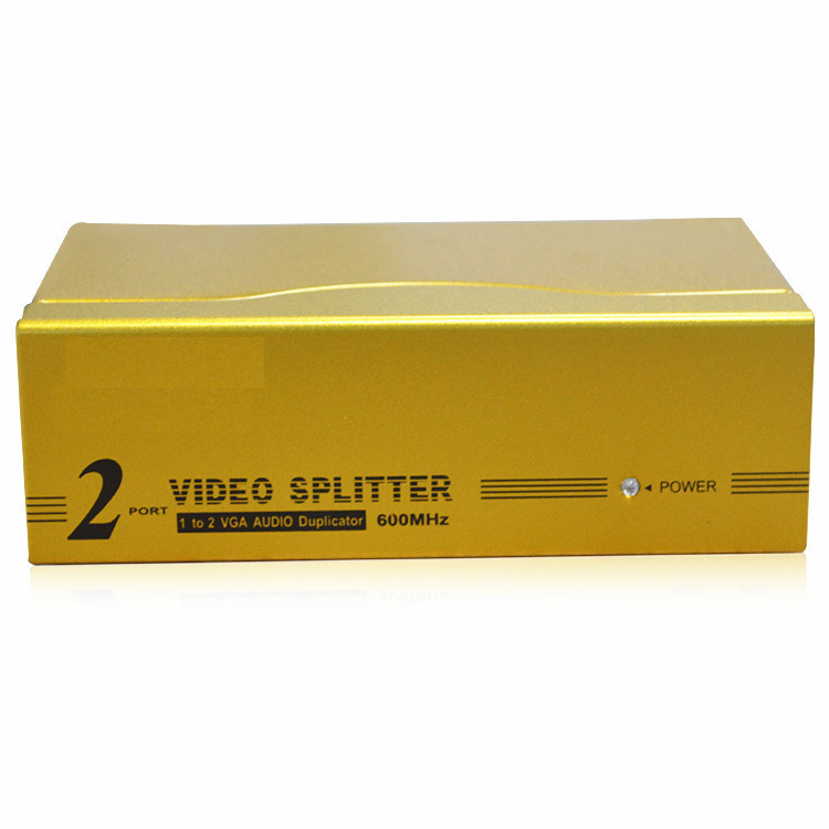 HighTek HK-V1T2MH High quality 600MHz 2 ways VGA distributor 1x2 distribution, VGA splitter1 in 2 out<br>