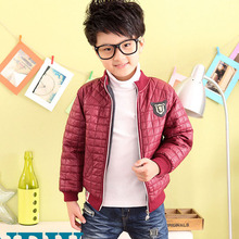 2017 new design kid Jackets children winter outerwear boy's plaid outerwear jacket children long-sleeve outerwear clothes
