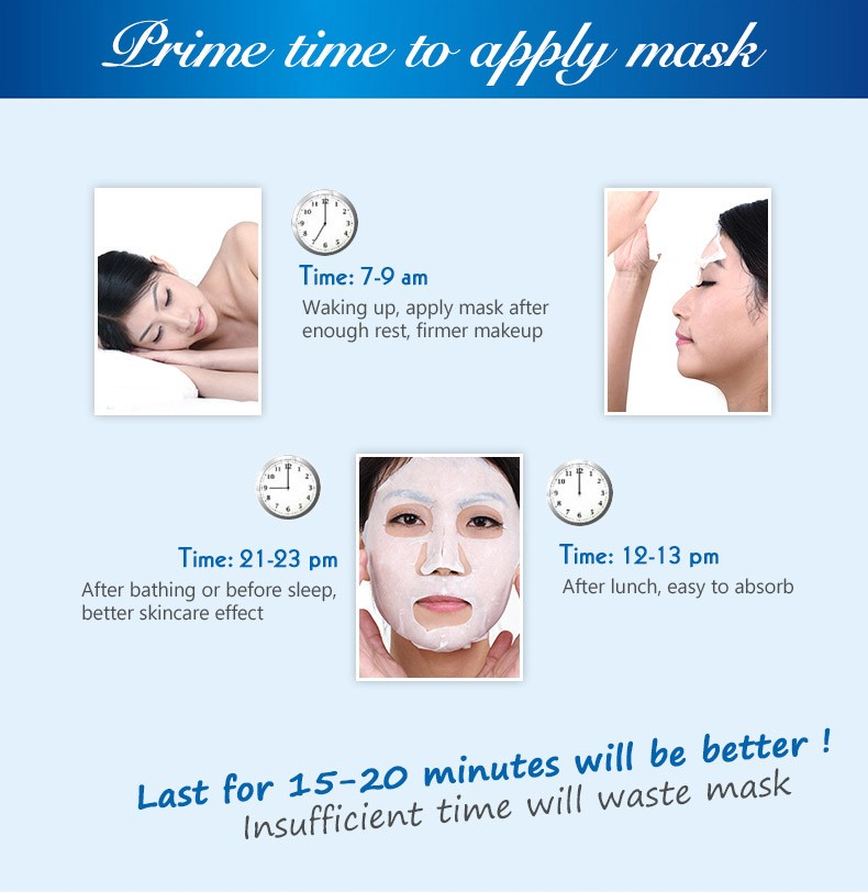 beauty water Ice face mask cosmetic whitening skin facial mask skin care acne blackhead remover treatment mask face care essence