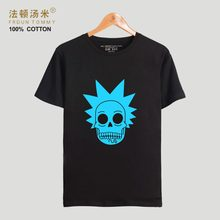 FrdunTommy Rick And Morty T-shirt Men Classic Animation T-shirt Men Cotton Fashion Casual Funny Science Fiction Cartoon T Shirt(China)