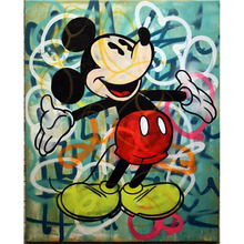 hand painted oil painting pop artist painting Richie Rich Graffiti art money Alec Monopoly Banksy art posters Living room decor