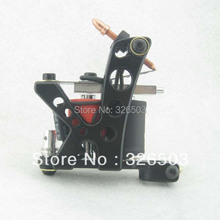 One Aluminum Alloy 10 Wrap Coils Tattoo Machine Gun For Kit Power Supply YAM06-A