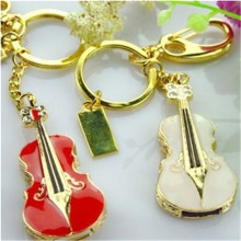 0!Jewellery U disk Alloy with plastic Guitar Necklace U disk Birthday promotional gift flash drive key ring of Customized  S51