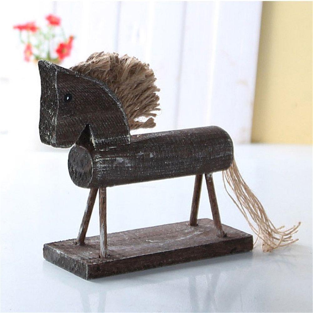 6 o 9 Madera Adorno En Blanco Etiqueta De Madera formas Rocking Horse paquetes de 3
