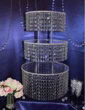 3 Tier Crystal Clear Acrylic Square Wedding CupCake Stand Tower