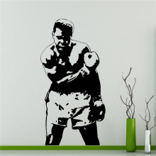 Free shipping Muhammad Ali Wall Decal Boxer Vinyl Sticker Home Decor Ideas Interior Removable Wall Art wall stickers(China)