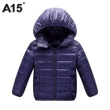 A15 Kids Winter Jacket for Girl 2017 Infant Toddler Boy Jacket Teens Clothes Children Warm Outerwear Coat Age 3 10 12 14 16 Year(China)