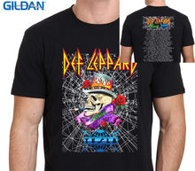 Boy Cotton Gildan Short Sleeve Gift Def Leppard With Poison Tour Dates 2017 Crew Neck Shirts For Men