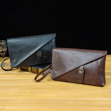 Male bag manufacturers retro Crazy Horse men's hand bag mobile phone package wear-resistant material of leisure(China)