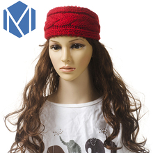 M MISM 2017 New Knit Woolen Style Headband Colorful Winter Warm Headwear Women Hair Accecessories Headwrap For Girls Daily Party(China)