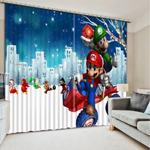 european style curtains custom 3d curtains Cartoon animation 3d window luxury curtains livingroom modern-bedroom-curtains
