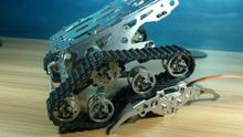 Tank chassis crawler chassis wifi smart car car independent suspension damping Diy Tracked Crawler Caterpillar Track RC Toy Kit