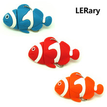 Funny finding nemo clown fish usb flash drive disk cartoon memory stick 16gb 32gb pendrive Pen drive personalizado gift 4gb 8gb(China)