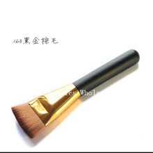 500Pcs New Beauty Makeup Flat Brushes 3 Styles Contour Trimming Brush Powder Face Brush Wooden Make Up Tool(China)