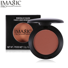 IMAGIC Brand Face Blush Makeup Baked Cheek Color Bronzer Blusher Palette Colorete Sleek Shadows Cosmetics For Beauty Black Women(China)
