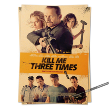 kill me three times movie poster 2014 Vintage Retro Adornment Poster Home Decor Character Classic Posters Wallsticks(China)