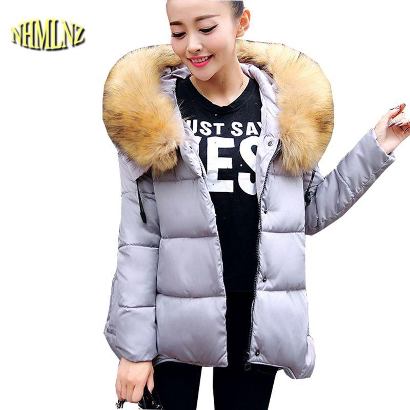 Winter Warm Cotton Down jacket New Style Large size Women Jacket Hooded Fur collar Jacket Thick Mantle Pregnant women Coat G2724Îäåæäà è àêñåññóàðû<br><br>