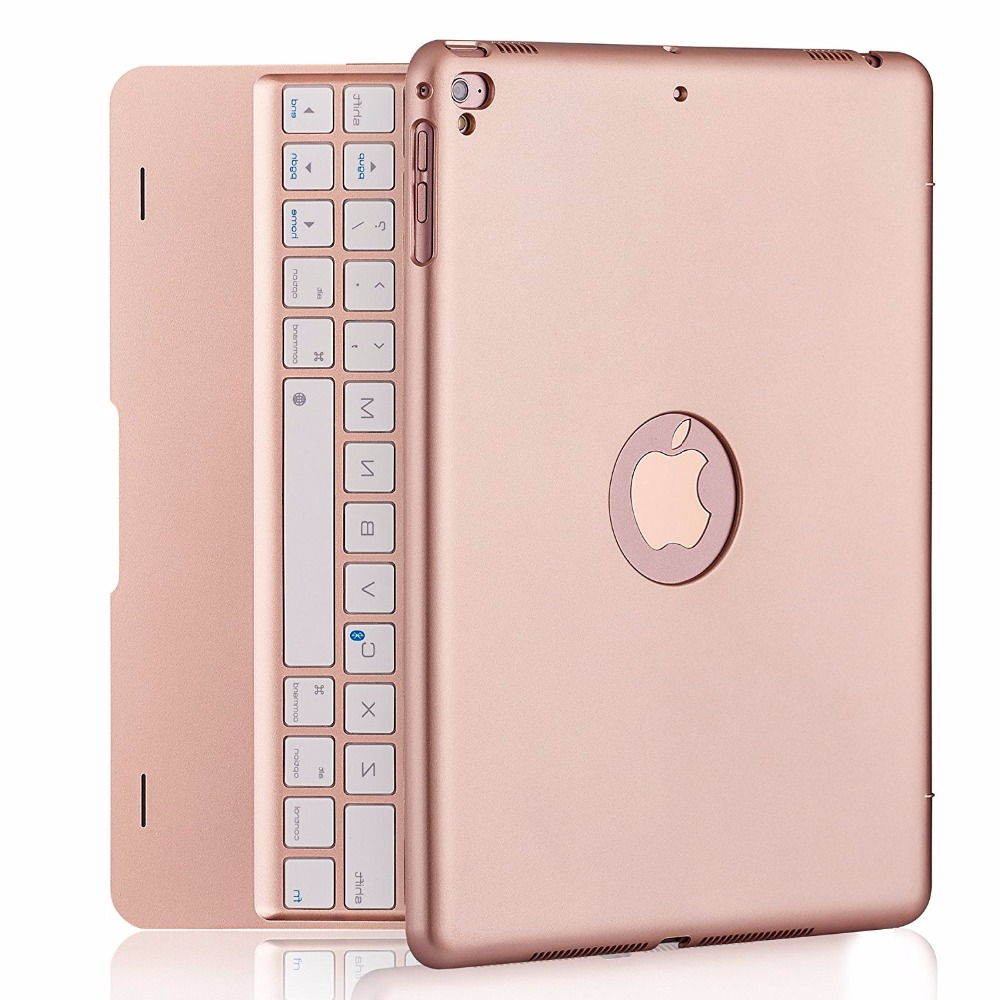 Kemile Ultrathin Folio Bluetooth Keyboard Case , with Auto Sleep / Wake for iPad 9.7 Inch 2017 / iPad Air1/air 2 / iPad Pro9.7 <br>