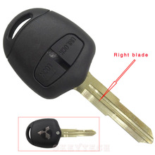 For Mitsubishi 2 buttons remote key shell Right blade Replacement Transponder Car Key Remote For Mitsubishi Grandis With logo