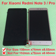 TOP Quality LCD Display Touch Screen Digitizer Assembly with frame For Xiaomi Redmi Note 3 Pro Mobile Replacement parts