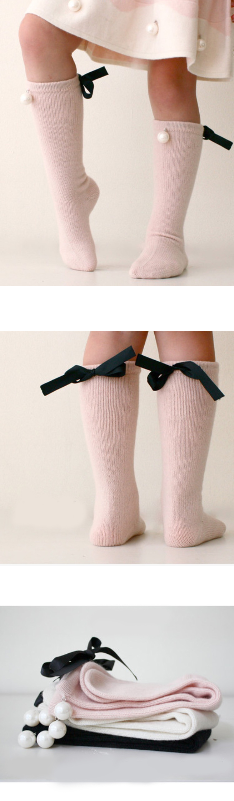 Winter Newborn Kids Baby Girl Socks Toddler Kids Knee High Long Socks Cotton Cute Bow Girls Socks Autumn 0-7 Years