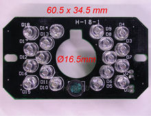 Infrared 18 x 5 IR LED  board for CCTV cameras night vision (PCB size 60.5 x 34.5 mm)