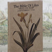 "30pcs""Pierre-Joseph Redoute-Lily Bible gretting card set""vingate kraft paper postcards/gift birthday post cards/commemorate card(China)"