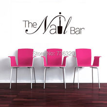 Nail Bar Sign Vinyl Wall Decal Bedroom Nail Salon Hairdresser Beauty Woman Wall Sticker Shop Decoration Window Glass Sticker