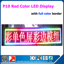 P10 Outdoor moving message led display board with RGB color border and scrolling led display sign 65*177cm