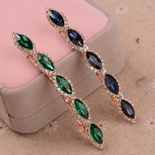 Rhinestone Metal Hairpin Women Crystal Hair Clip Barrettes MIx Color Girls Hair Accessories(China)