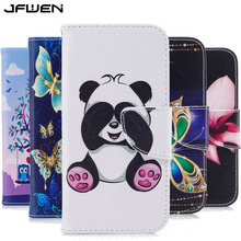Buy JFWEN Cover Huawei P9 Lite Leather Case Flip Wallet Coque Huawei P9 Lite 2016 Case Cover Magnetic Luxury Phone Cases for $3.74 in AliExpress store
