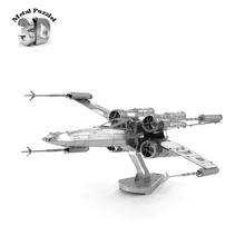 Star Wars  X-Wing Starfighter  3D Metal Puzzles Robot Jigsaws DIY New Year Gift Building Model Educational Toy for Kids