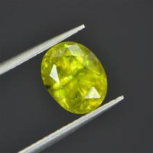 3.190ct natural SI class natural green sphene loose gems loose gemstones(China)
