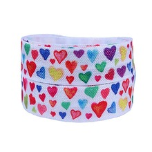 FLORA ribbon wholesale Valentine foe fold over elastic ribbon(China)