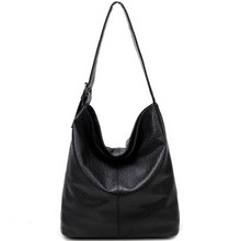 Buy Simple Design Casual Women's Bag Soft Leather Hobo Handbag Office Ladies European Fashion Large Capacity Black Brown Bolsas for $18.07 in AliExpress store